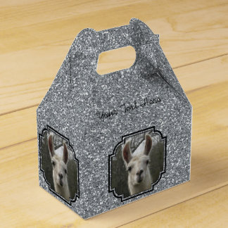 Bright N Sparkling Llama in Silver Wedding Favour Boxes