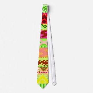 Bright Neon Aztec Pattern Tie