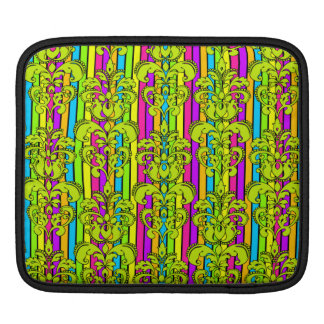 Bright Neon Damask in Green Sleeves For iPads