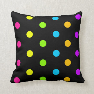 Bright Neon Dots Cushion