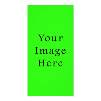Bright Neon Green Color Trend Blank Template Personalized Photo Card