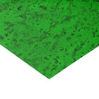Bright Neon Green Cork Bark Look Wood Grain Tissue Paper