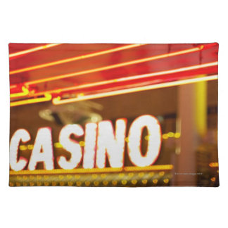 Bright neon lights in front of casino, Las Vegas Placemat