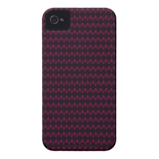 Bright Neon Pink Alien Head Pattern iPhone 4 Case-Mate Case