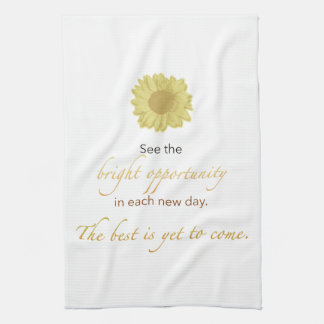 Bright New Day Kitchen or Spa Hand Towel