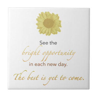 Bright New Day Tile, Coaster, or Trivet