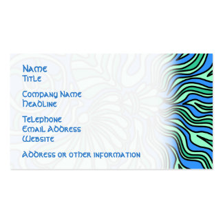 Bright Ocean Theme Design. Pack Of Standard Business Cards