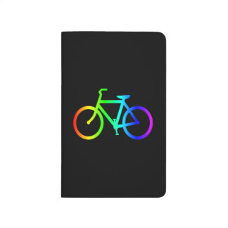 Bright Ombre Rainbow Bicycle Journal