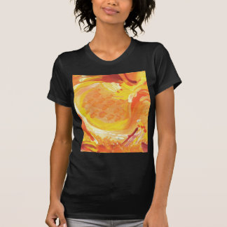 bright orange abstract painting t-shirts