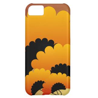 Bright Orange and Black Flowers iPhone 5C Case