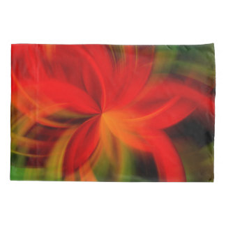 Bright Orange And Green Abstract Pillowcase