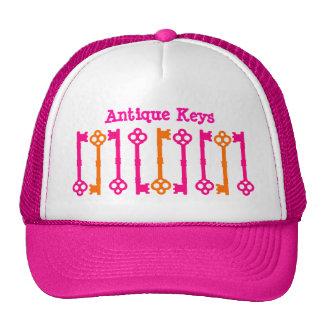 Bright orange and hot pink old keys cap