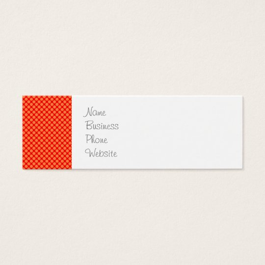 Bright Orange and Red Mini Polka Dots Pattern Mini Business Card