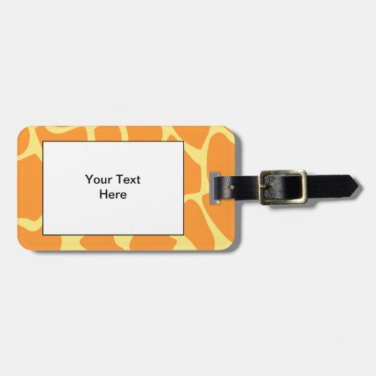 Bright Orange and Yellow Giraffe Print Pattern. Luggage
