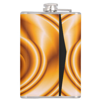 Bright orange art hip flask
