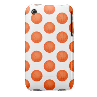 Bright Orange Basketball Pattern Case-Mate iPhone 3 Cases
