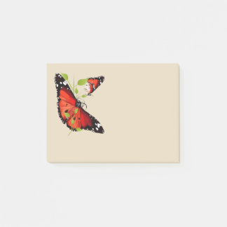 BRIGHT ORANGE BUTTERFLY POST-IT® NOTES