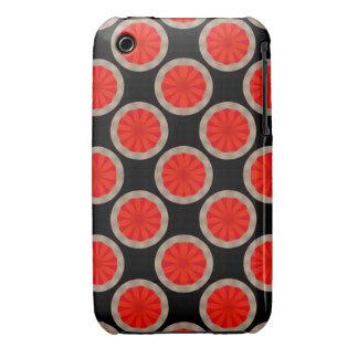Bright orange circles on black iPhone 3 case