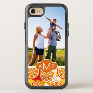Bright Orange Citrus Pattern | Add Your Photo OtterBox Symmetry iPhone 8/7 Case
