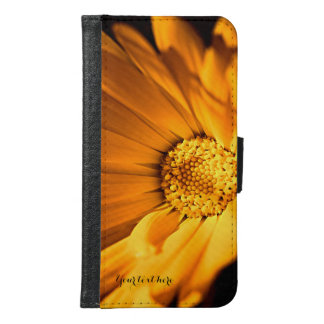 Bright Orange Daisy Wildflower Samsung Galaxy S6 Wallet Case