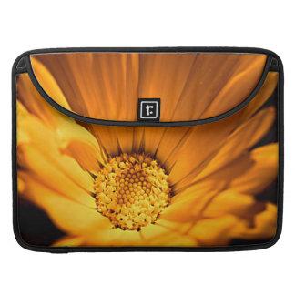Bright Orange Daisy Wilflower Sleeves For MacBooks
