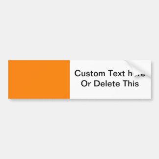 bright orange DIY custom background template Bumper Sticker