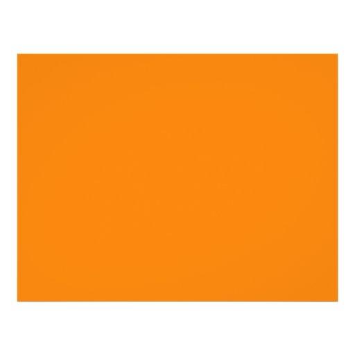 bright orange DIY custom background template Personalized Flyer