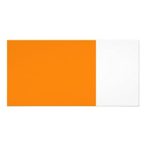 bright orange DIY custom background template Photo Cards