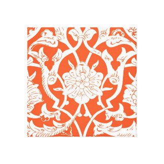 BRIGHT ORANGE ETHNIC PATTERN GALLERY WRAPPED CANVAS