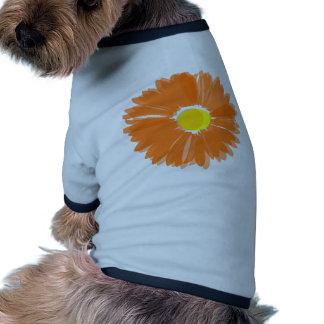 Bright Orange Flower Doggie T Shirt