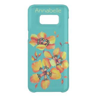 Bright Orange Flowers - Aqua Uncommon Samsung Galaxy S8 Case