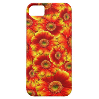 Bright Orange Flowers Case For The iPhone 5