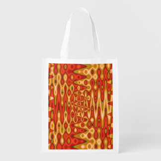 Bright Orange Gold Abstract