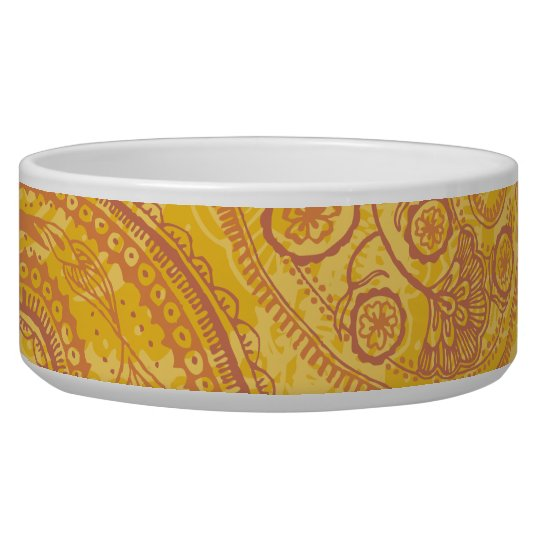 Bright Orange & Gold Paisley