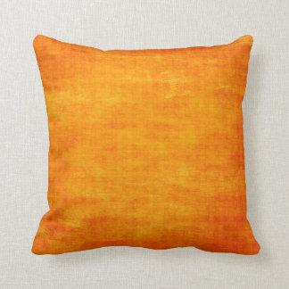 Bright Orange Grungy Light Background Throw Pillows
