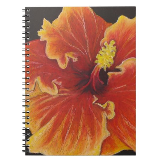 Bright Orange Hibiscus Spiral Notebook