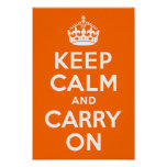 Bright Orange Keep Calm and Carry On