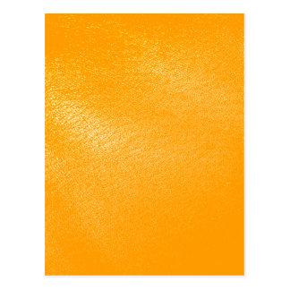 Bright Orange Leather Look Post Card