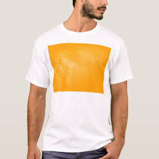 Bright Orange Leather Look T-Shirt