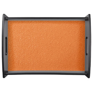 Bright Orange Neon Trendy Colors Serving Tray