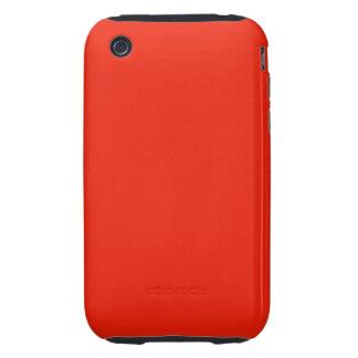 bright orange red color iPhone 3 tough case