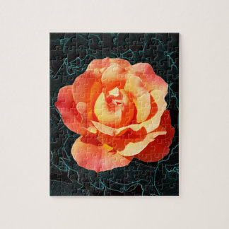Bright orange rose jigsaw puzzle