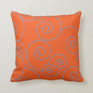 Bright Orange & Spirals Cushion