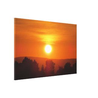 Bright Orange Sunset Canvas Print