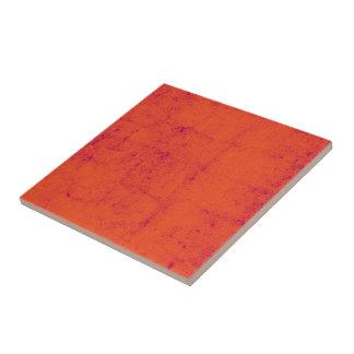 Bright Orange With Purple Specks Textured Pattern Tile