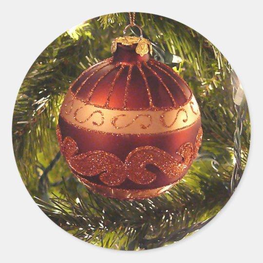 Bright ornament classic round sticker