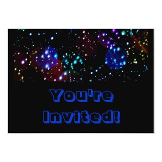 Bright Outer Space Theme 13 Cm X 18 Cm Invitation Card