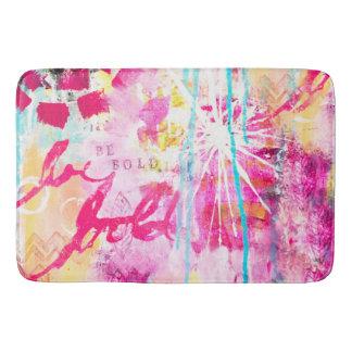 Bright Paint Splatter Abstract Art Colourful Bath Mat