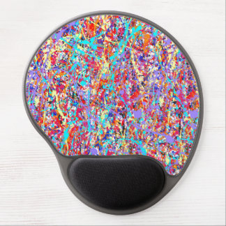 Bright Paint Splatter Abstract Gel Mouse Pad