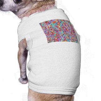 Bright Paint Splatter Abstract Sleeveless Dog Shirt